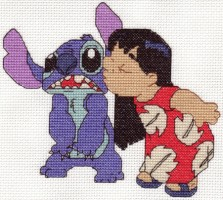 Lilo Stitch Cross Stitch by Krissay20