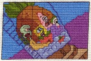 Spongebob Cross Stitch by Krissay20
