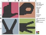 L O V E cross stitch