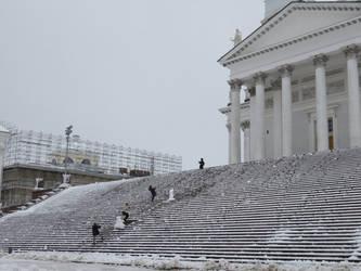 Church Stairs by MarkoKarpow