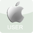 Mac User Stamp (Large) by Quill-Works