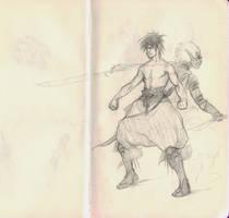 Elven martial artists by bozac