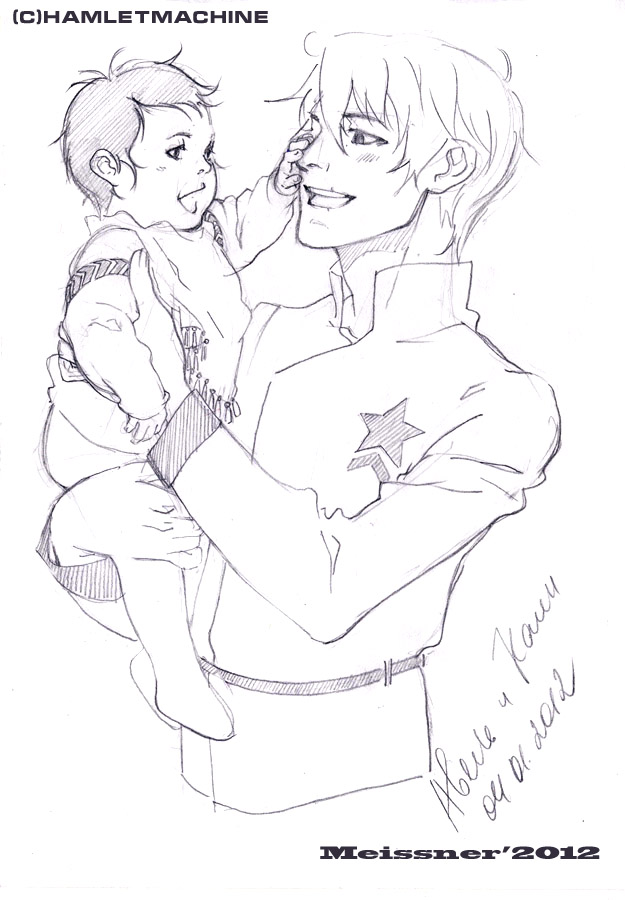 sketch Abel and Cain by Meissner-kun