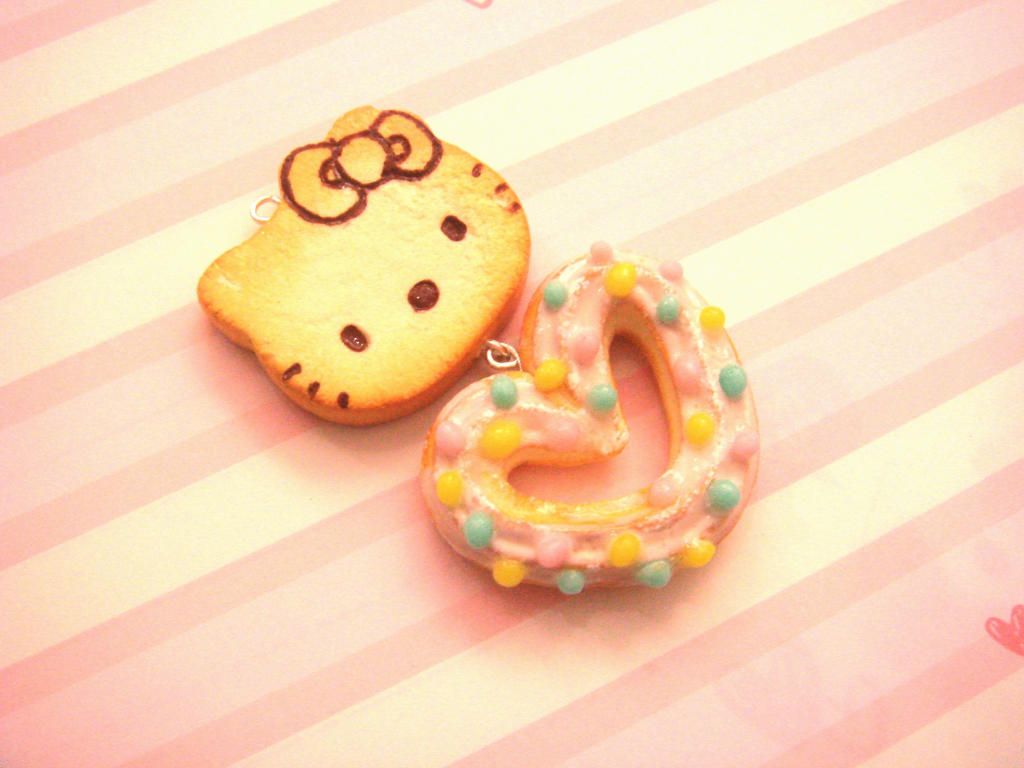 Hello Kitty Pancake and Sugar Coated Churro by tiramisuxfluff