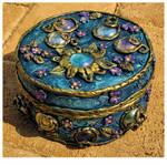 Blue trinket box I