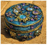 Blue trinket box I