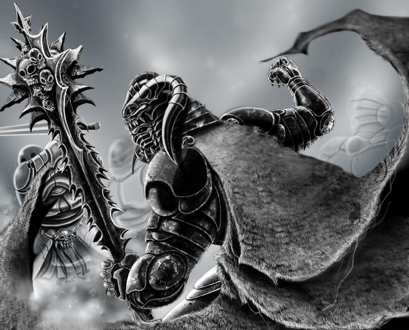 dark warrior wip by lancechf