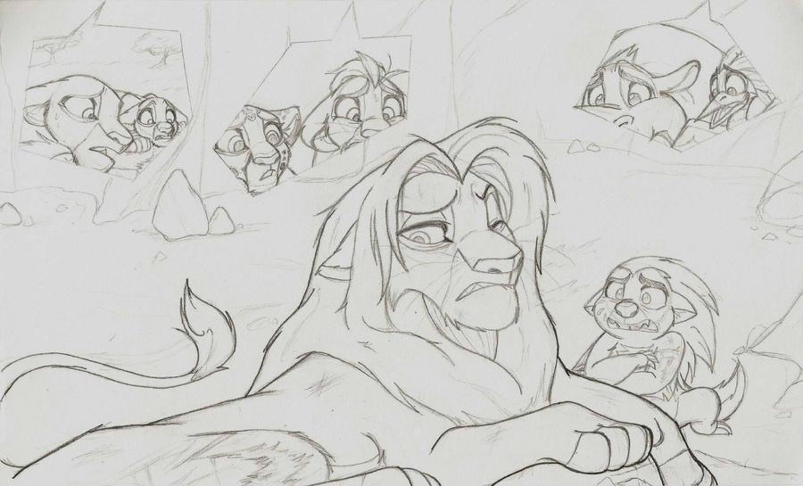 TLK: Bunga and the King +sketch+ by Xx-JungleBeatz-xX