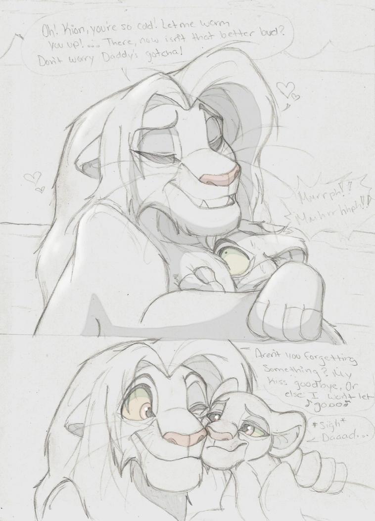 Daddy Simba's Affections. .:.Sketch. by Xx-JungleBeatz-xX