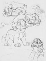 Simba doodles