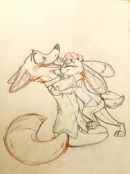 No bunny kisses by Credens-Vita