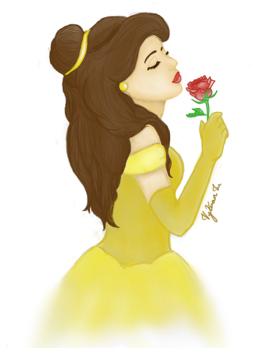 Belle - Beauty and the Beast (Coloured) by CauseLife