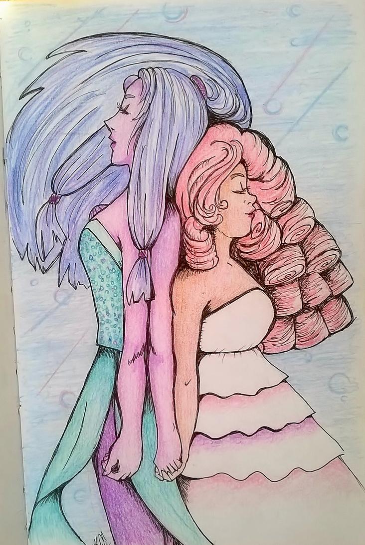 Opal And Rose by mokurenawakened