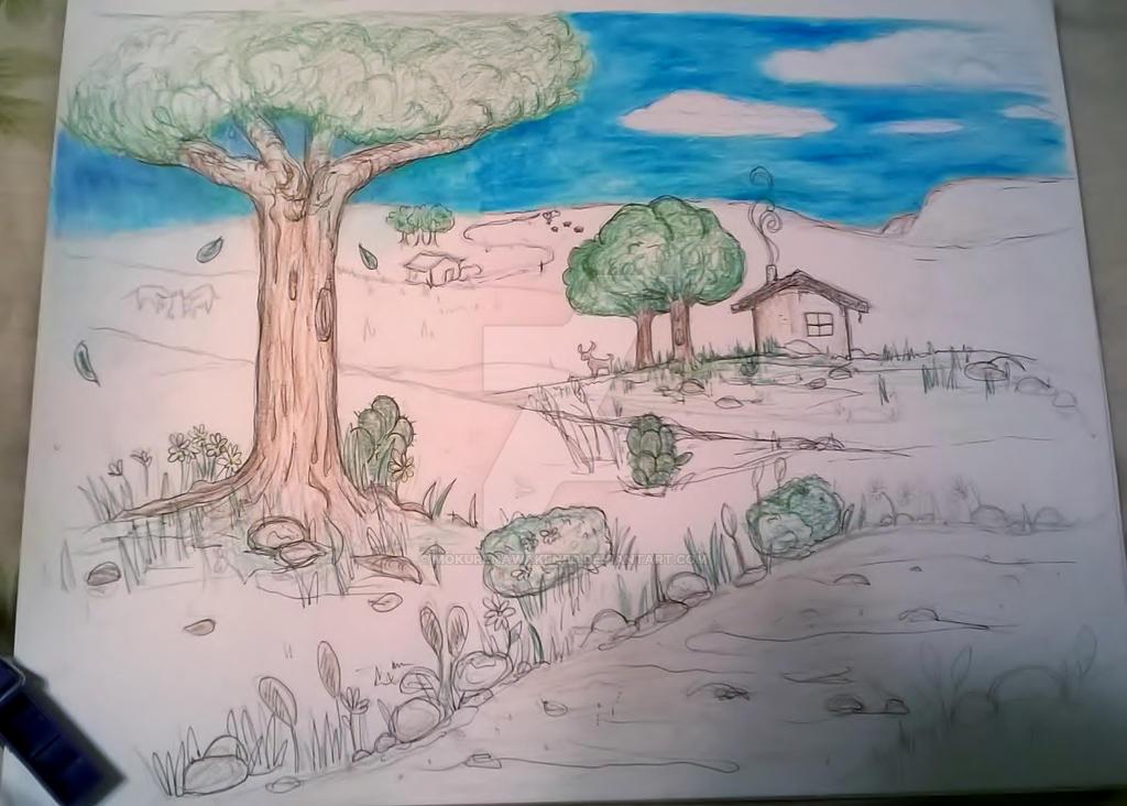 Lazy Country Landscape by mokurenawakened