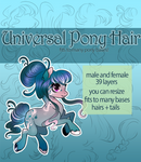 [P2U] Universal Pony Hair Pack - Addons to bases! by xaineko