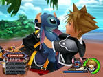 Sora and Stitch-Kingdom Hearts