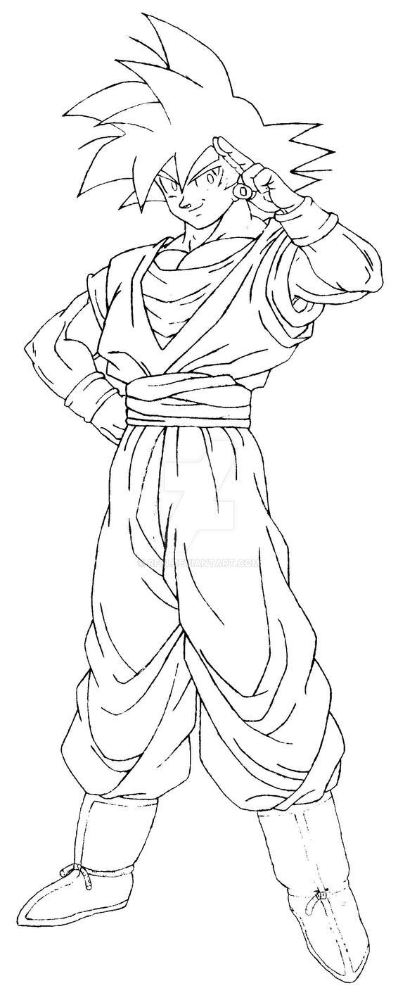 Dragon Ball Z Lineart : Goku dragonball z lineart by rf on deviantart