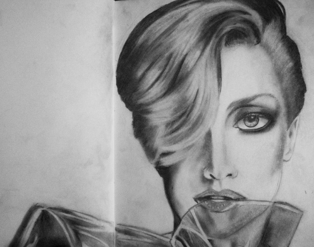 Sketching Lady Gaga by RaiJmH94