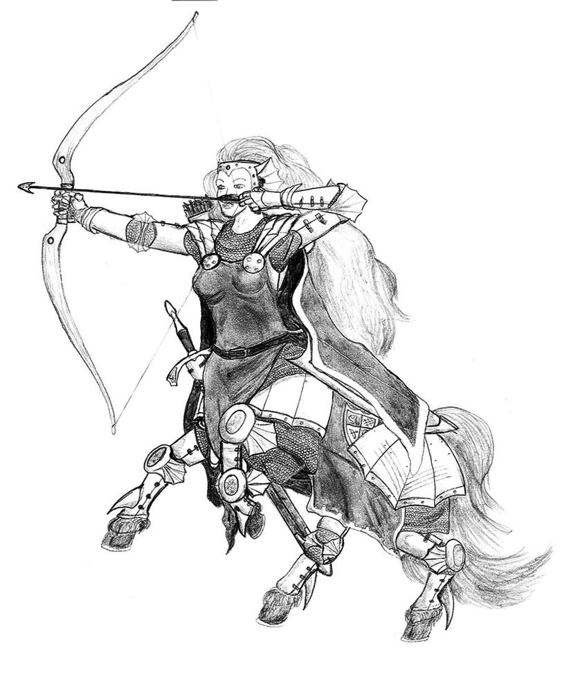 how to draw a male centaur