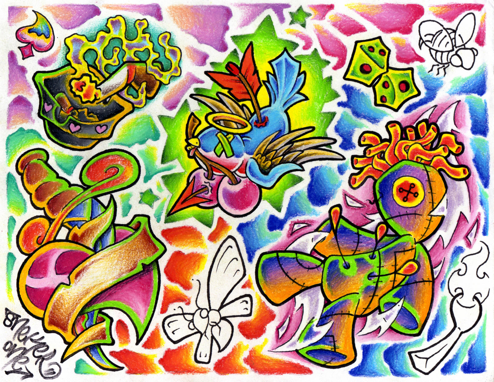 traditional tattoo flash wallpaper - photo #5