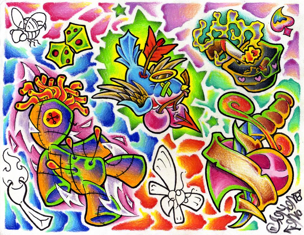 traditional tattoo flash wallpaper - photo #3