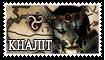 Skyrim Khajiit Stamp by WeirdHyenas