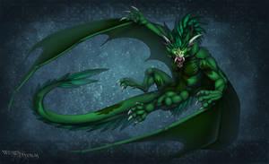 Commission : Emerald Vampire by WeirdHyenas