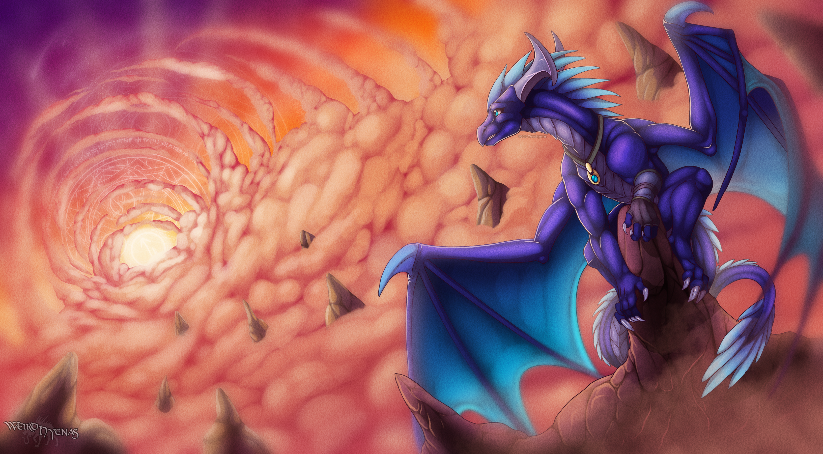 Commission : On Top of the World by WeirdHyenas