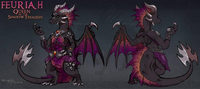 Spyro Reignited : Feuriah of the Shadow Treaders by WeirdHyenas
