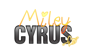 Miley Cyrus Texto PNG