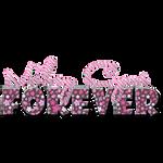 Miley Cyrus Texto PNG floreado y rayado