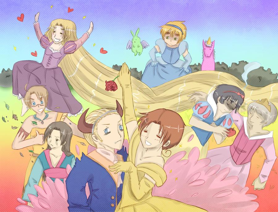 Collab: Hetalia Princesses by ANIMEPRO465