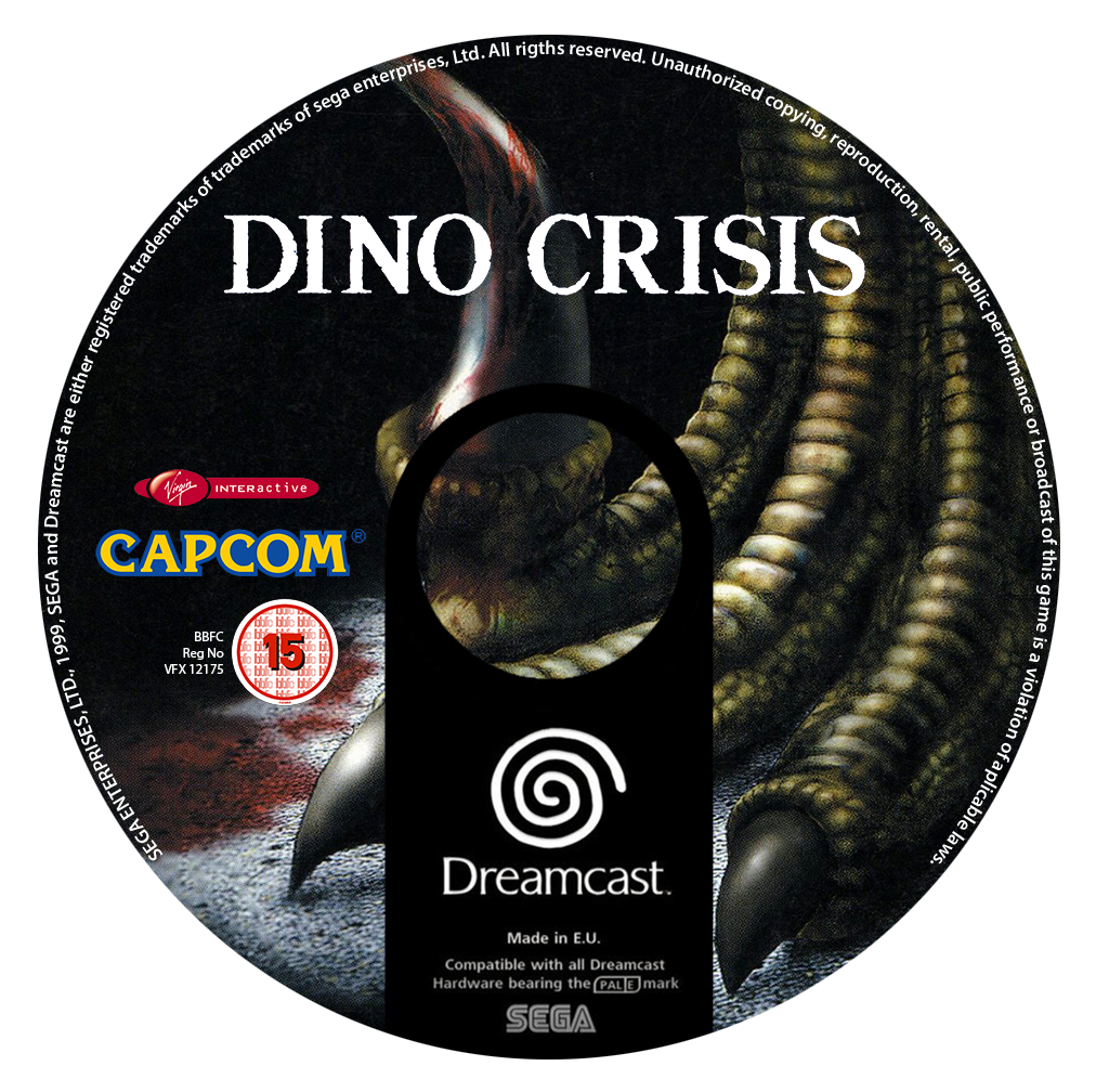 Dino Crisis Custom CD (Dreamcast) by CobraRoja