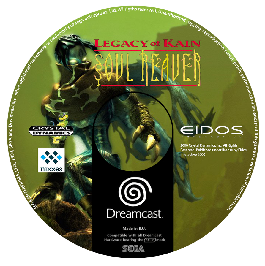 Soul Reaver Custom CD (Dreamcast) by CobraRoja