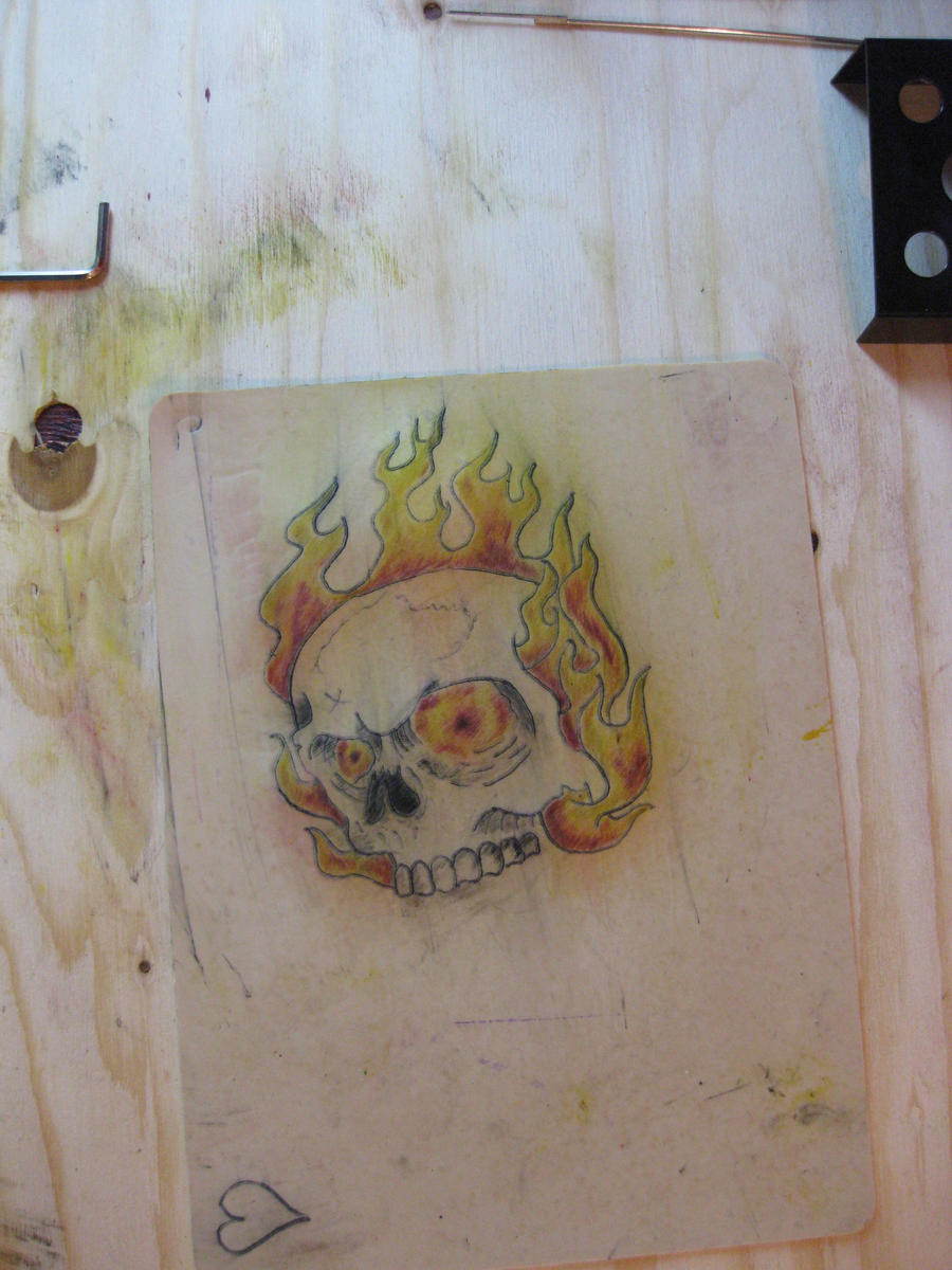 Skull on practice skin by scribblingtend on deviantart for Tattoo practice pig skin