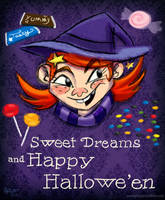 Sweet Dreams and Happy Halloween by AronDraws