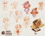 Miss Cookie Design Sketches