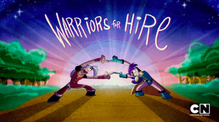 Mighty Magiswords Title Card 1 - Warriors For Hire