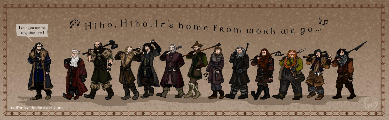 The Hobbit: Wrong Tune by wolfanita
