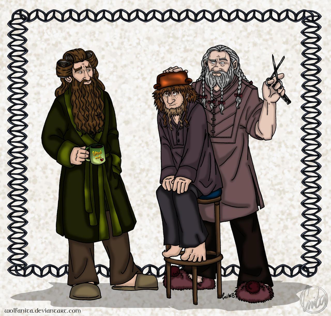 ArtTrade: The Hobbit: Hair Care by wolfanita