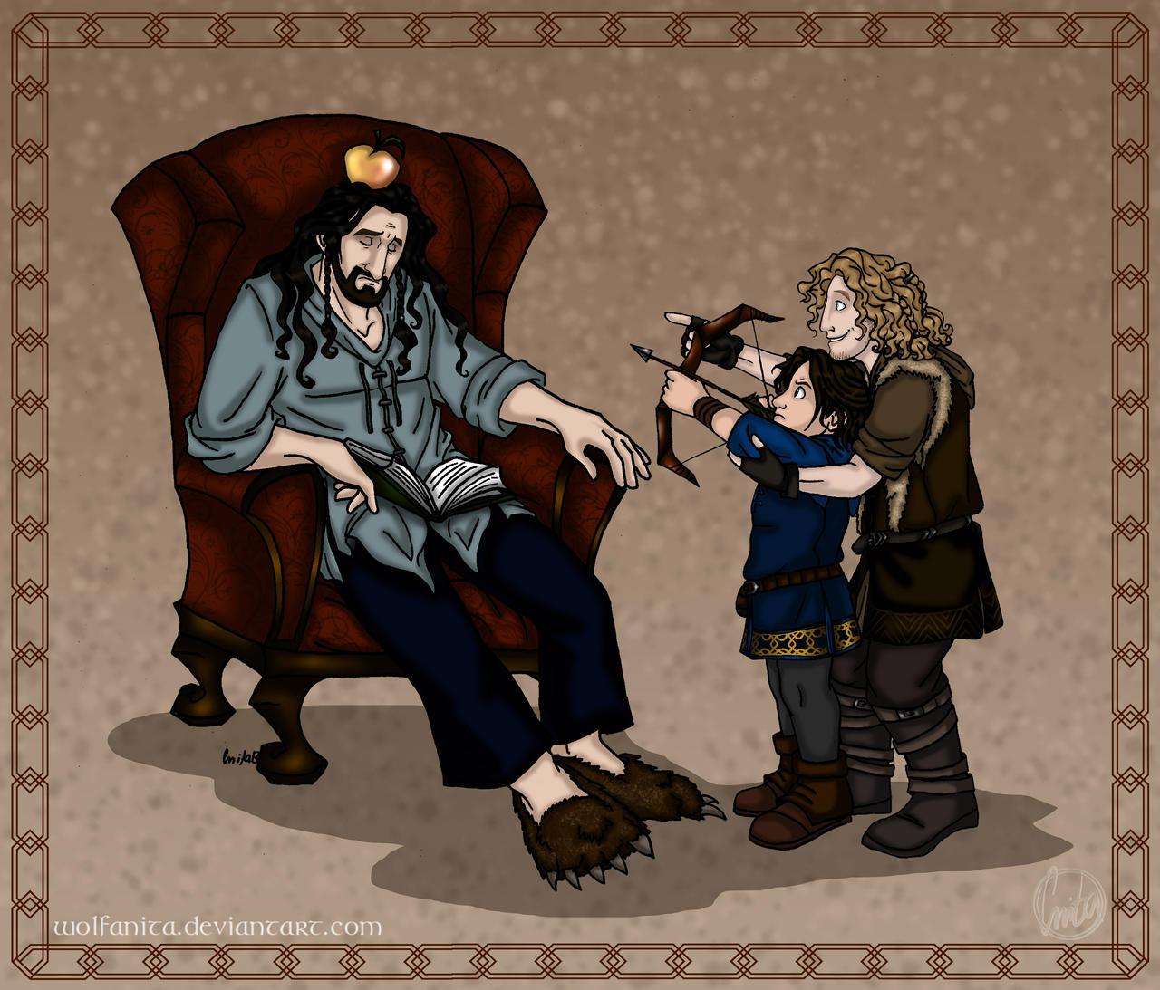 The Hobbit: Little Angels II by wolfanita