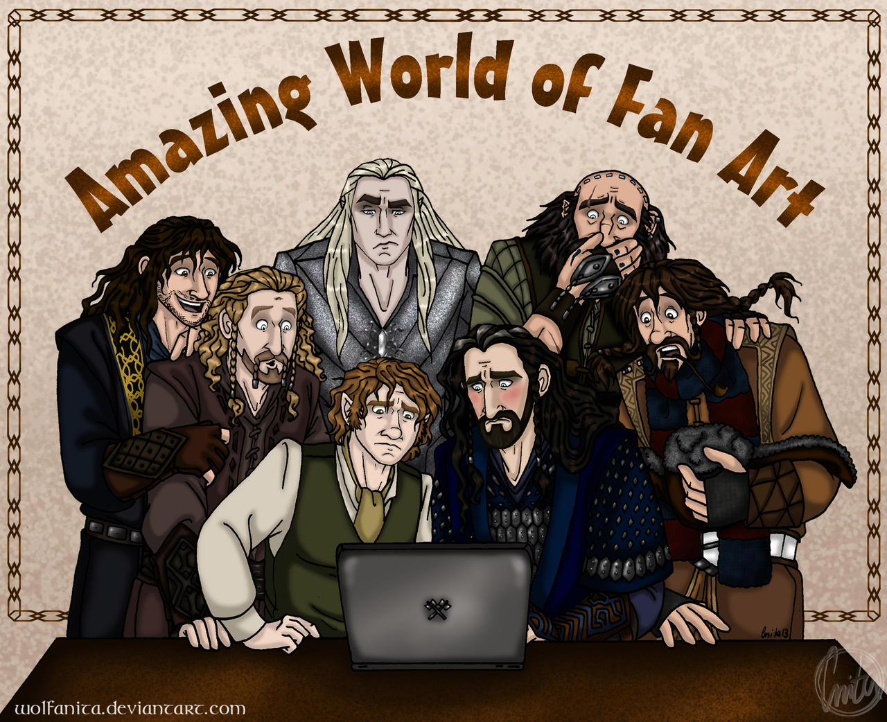 The Hobbit: Amazing World of Fan Art by wolfanita