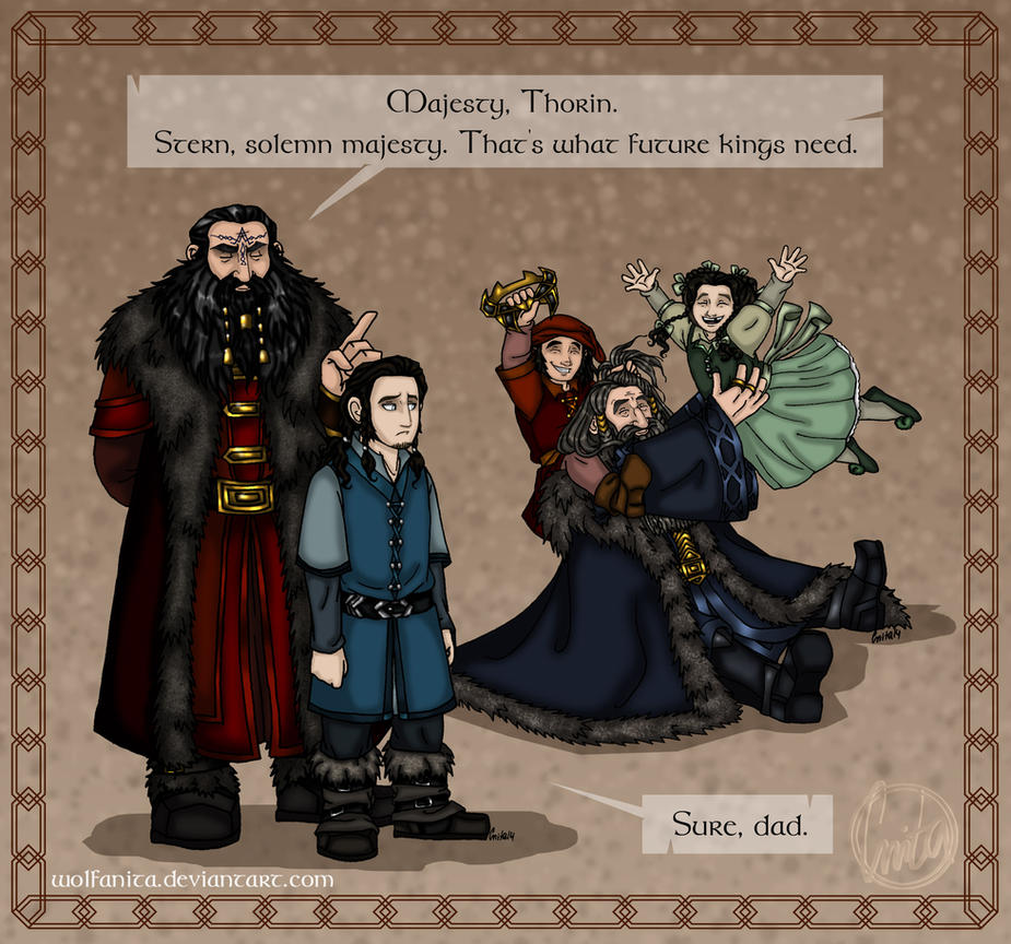 The Hobbit: Daddy! Part One: Lesson for Life by wolfanita
