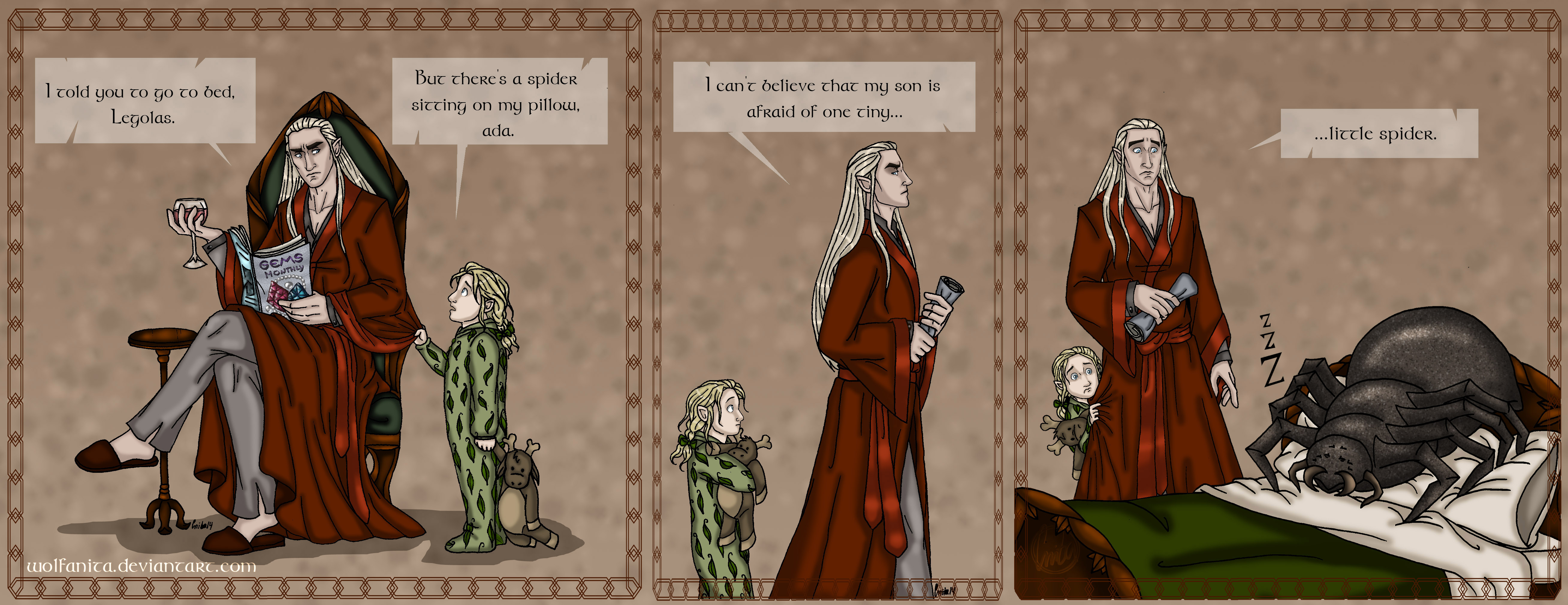 The Hobbit Daddy Part Four Childish Fears By Wolfanita On