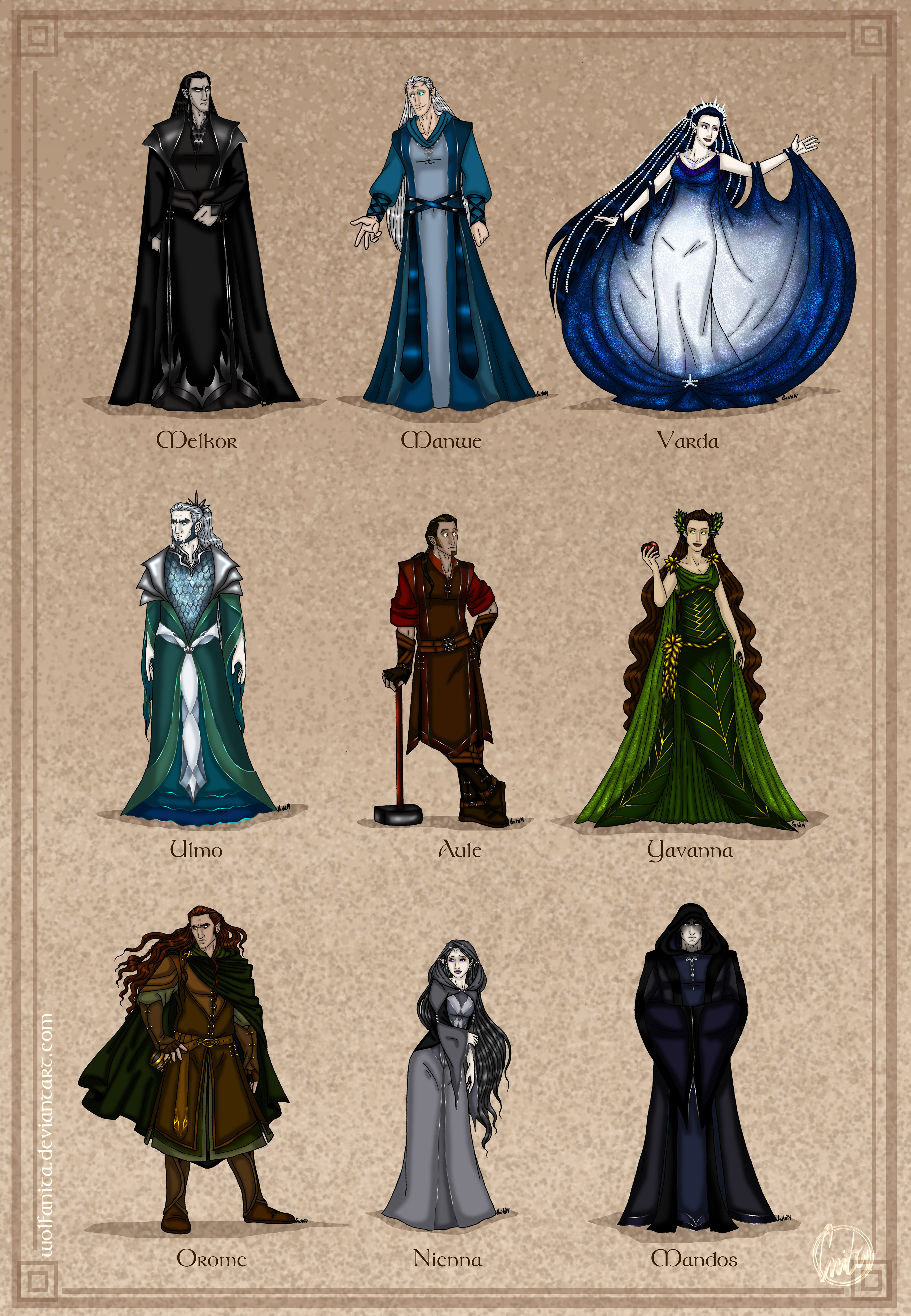 The Silmarillion: The Aratar by wolfanita