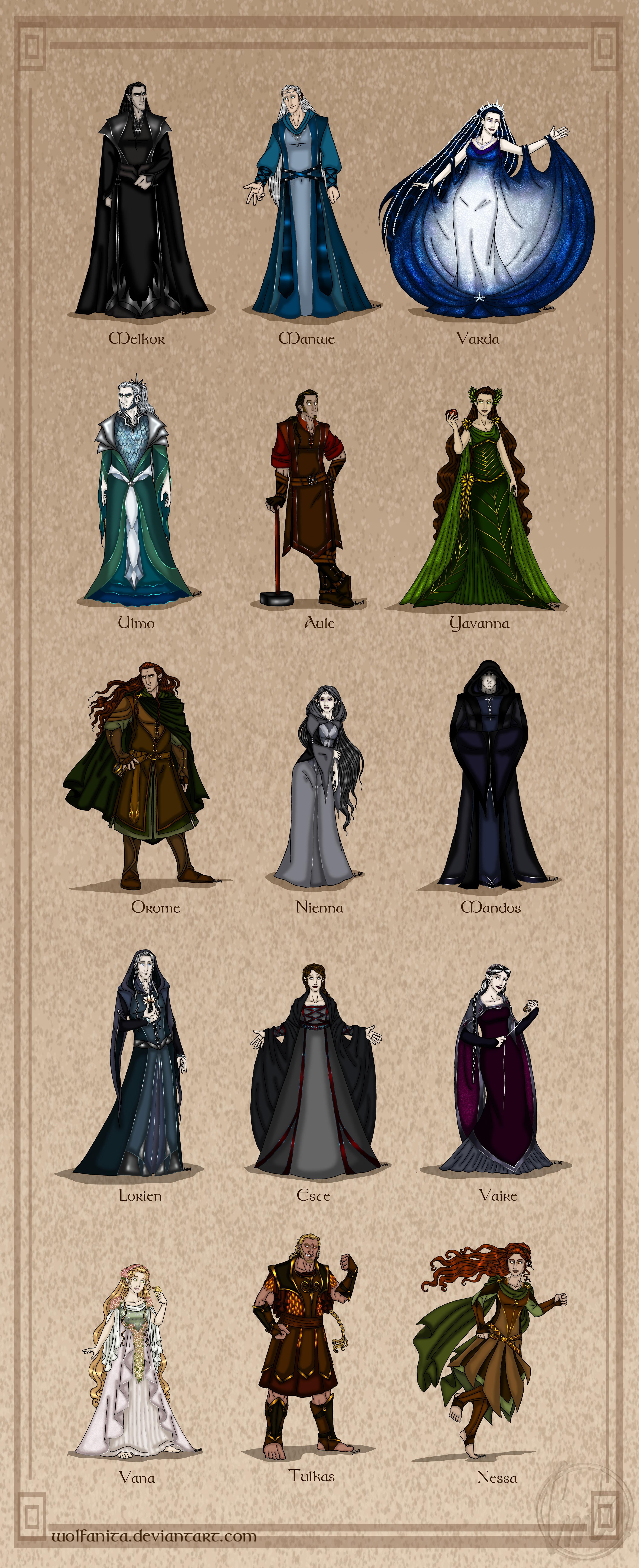 Lord Of The Rings Maiar Valar