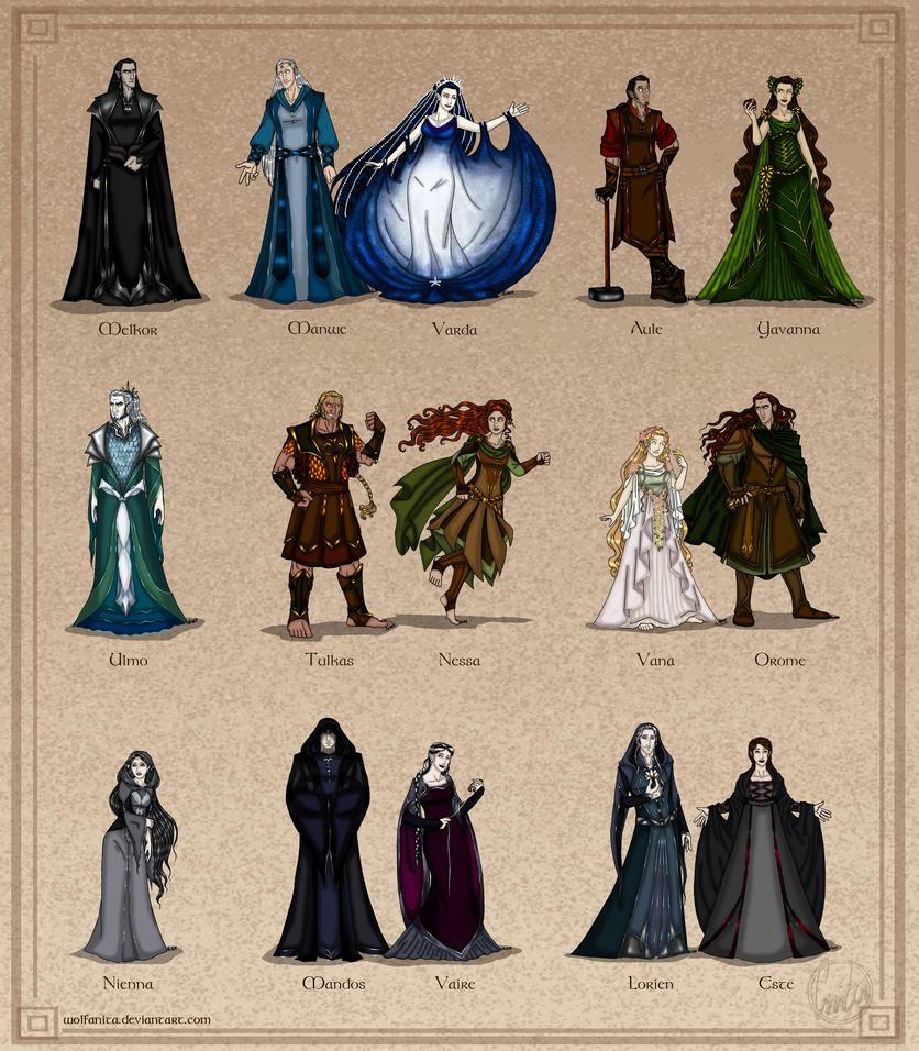 The Silmarillion: The Valar - Couples Version by wolfanita