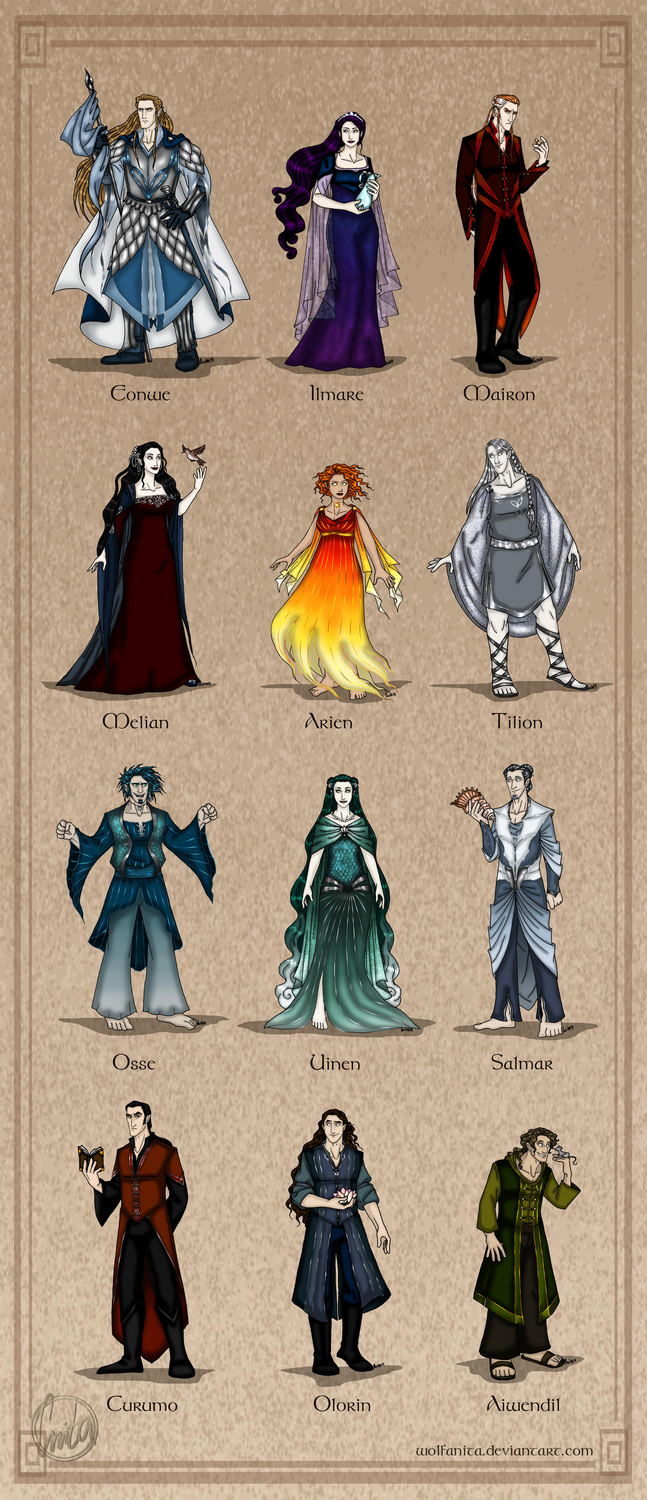 The Silmarillion: The Maiar by wolfanita