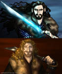 The Hobbit: Thorin and Fili Close Up