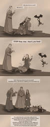 The Hobbit: Gandalf to the Rescue! by wolfanita